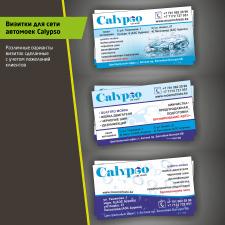 Визитки для сети автомоек Calypso