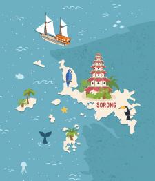 Карта для туристического агентства