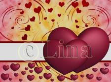 Два розовых сердечка