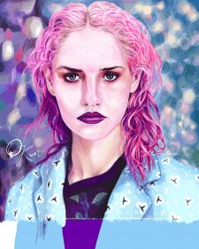 Шарлотта Фри. Цифровой портрет