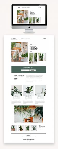 Дизайн сайта-визитка.