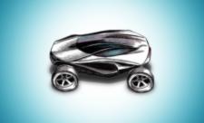 Рисунок футуристического автомобиля