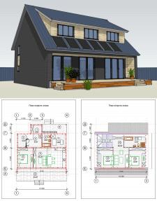 Енергоефективний каркасний будинок.