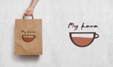 "Логотип для пакета ""My kava"""