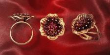 кольцо-цветы