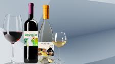 Концепт этикетка для вина