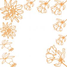 цветущий веночек из цветов граната
