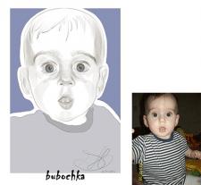 Портрет малыша/ векторная графика