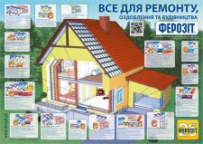 Плакат А2, показывающий ассортимент продукции