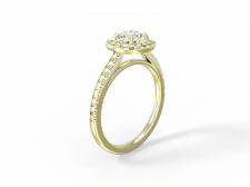 Визуализация кольца с бриллиантами 2