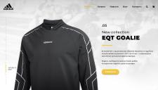Дизайн сайта - Спортивный магазин