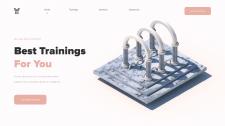 Дизайн сайта по туризму с добавлением 3D