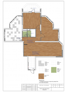 План напольного покрытия квартира 100м2