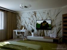 Проект интерьера спальни