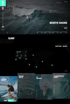 Верстка сложного макета Go-Surf