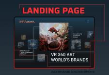 Website design for a business project VR 360 ART