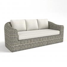 Canape de jardin Moorea Terre dombre-WHITE