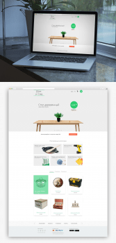 Дизайн сайта в стиле Material