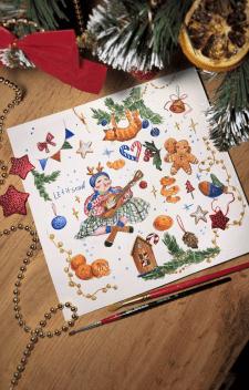 Стикерпак рождественский