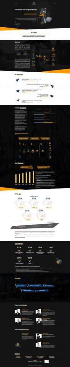 Сайт для инвест проекта по переработке метанола