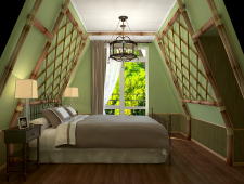 Bedroom in summer house
