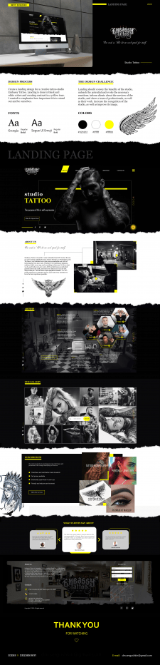 Tattoo studio Embassy - Landing Pages