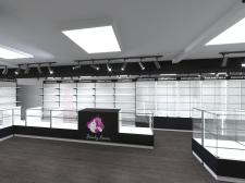 Дизайн торговой мебели для магазина BeautyBoom
