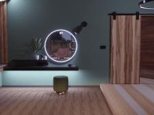 3d визуализация дамского уголка в спальне