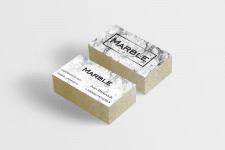 """Дизайн визитки для фирмы """"Marble"""""""