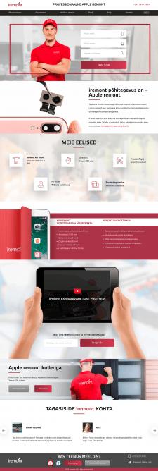 Разработка сайта по ремонту електроники на Yii2