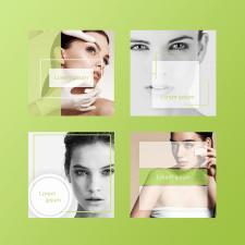 Фирменный стиль в Instagram - Косметология