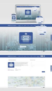"""Разработка дизайна сайта """"Dikotech"""""""