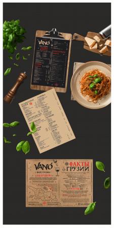 Menu Vano Restaurant