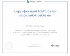 Сертификат Google АdWords - Мобильная реклама