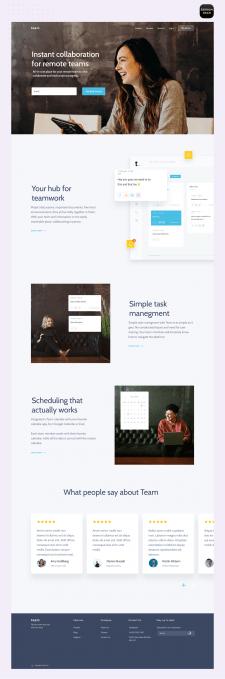 Landing page для чат приложения