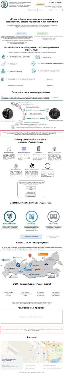 Гудвин-Нева. b2b. Сайт в процессе реализации