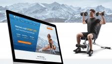 Дизайн landing page для фитнес клуба Sport life