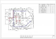 План ОВ для двохмоперхового будинку. Другий поверх