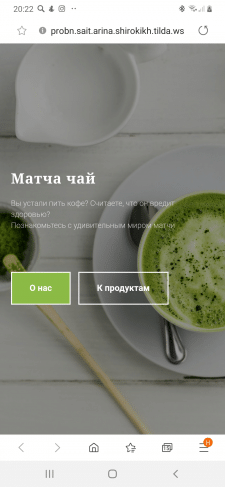 Сайт интернет магазина матчи чая