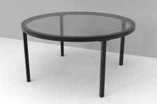 Table basse industrielle CLAUDIA Verre et Noir