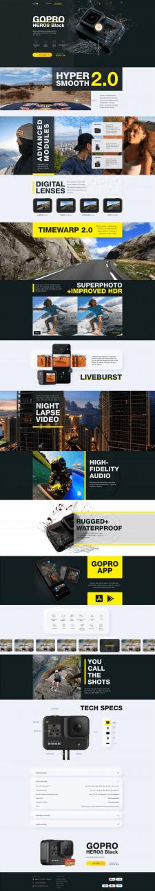Дизайн сайта-визитки для продажи GoPro
