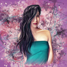 портрет в стиле Dream Art