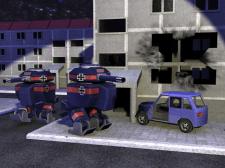 Роботы в городе.