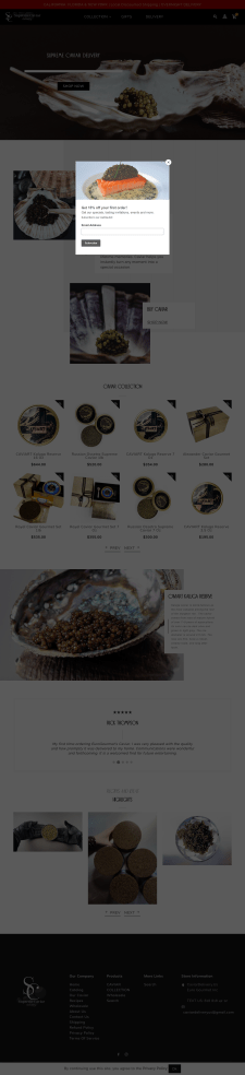 Caviar Delivery Euro Gourmet Inc