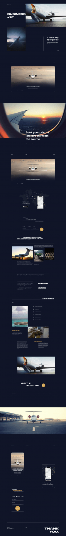 Opes Jet - landing page design