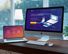 Mockup сайта для приложения PushMe