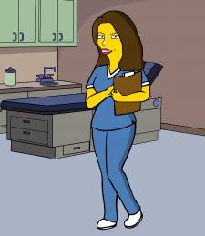 Медсестра в стиле Симпсонов