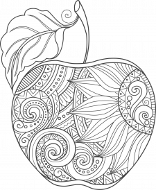 Яблоко-Мандала