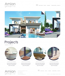 Сайт по архитектуре и дизайну