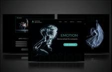 Landing page for dance school - Emotion